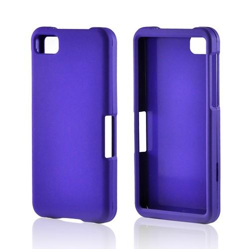 Purple Rubberized Hard Case for BlackBerry Z10