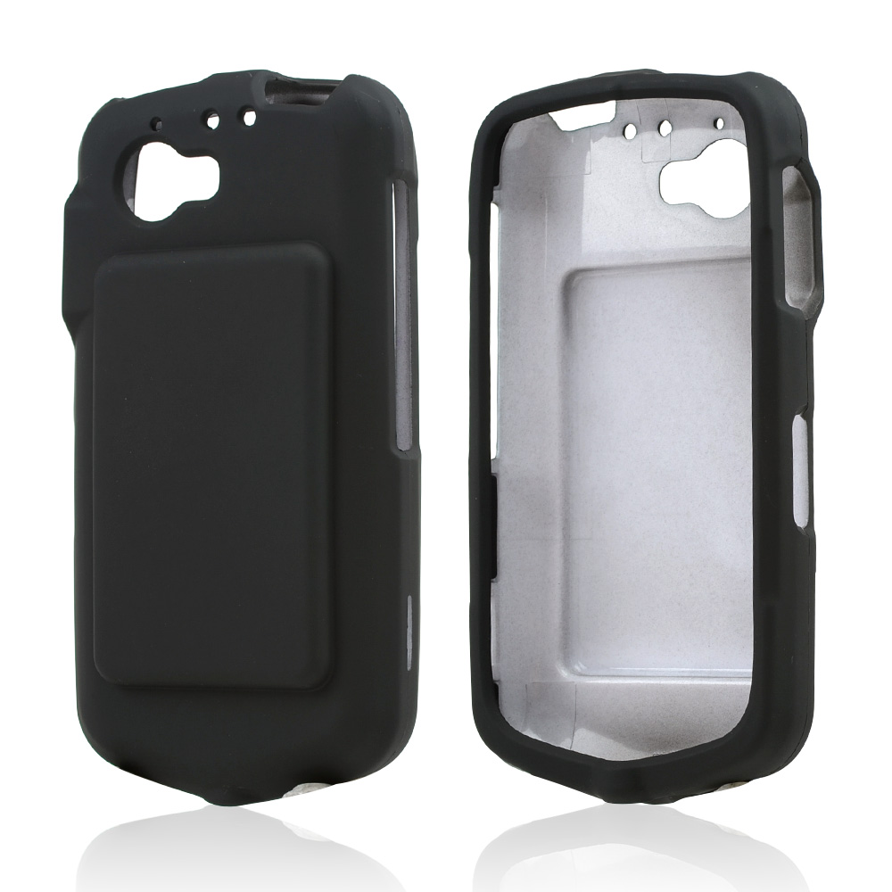 Black Rubberized Hard Case for Casio G'zOne Commando 4G LTE C811