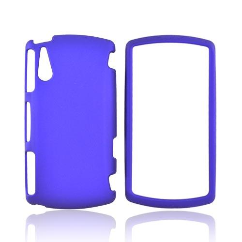 Sony Ericsson Xperia Play Rubberized Hard Case - Blue