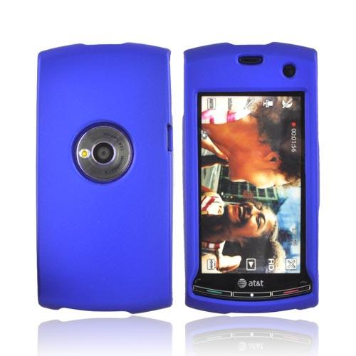 Luxmo Sony Ericsson Vivaz Rubberized Hard Case - Blue