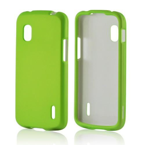 Neon Green Rubberized Hard Case for LG Nexus 4
