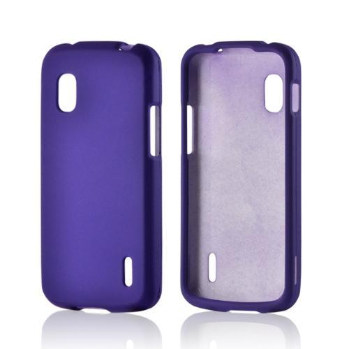 Purple Rubberized Hard Case for LG Nexus 4