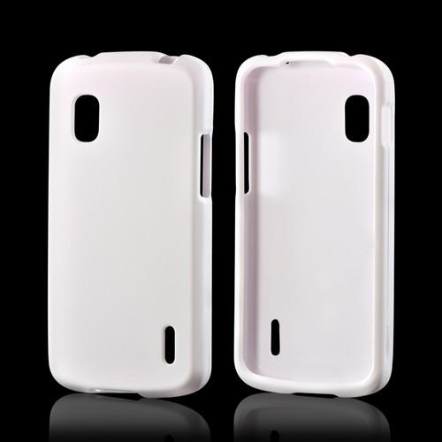 White Rubberized Hard Case for LG Nexus 4