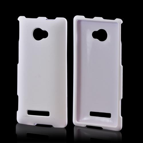 HTC 8X Rubberized Hard Case - White