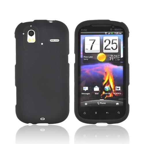 HTC Amaze 4G Rubberized Hard Case - Black