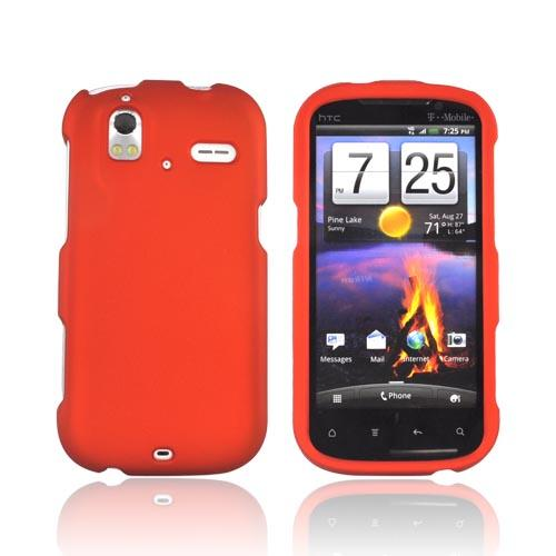 HTC Amaze 4G Rubberized Hard Case - Orange