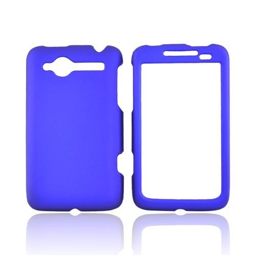 HTC Bee/Wildfire Rubberized Hard Case - Blue
