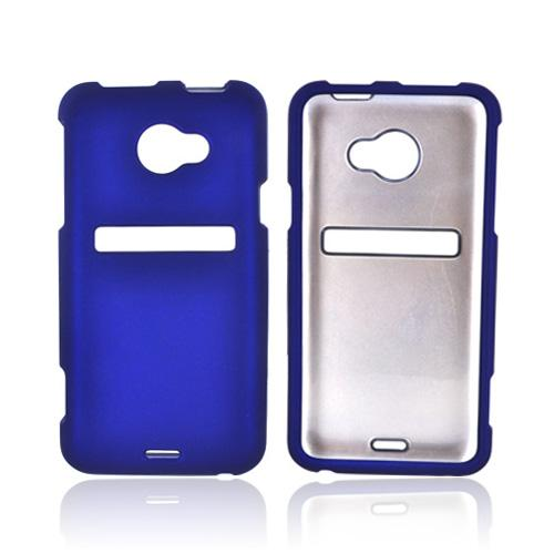 HTC EVO 4G LTE Rubberized Hard Case - Blue
