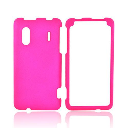 HTC EVO Design 4G Rubberized Hard Case - Hot Pink
