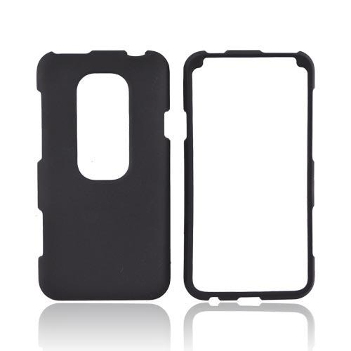 HTC EVO 3D Rubberized Hard Case - Black