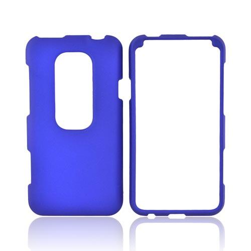 HTC EVO 3D Rubberized Hard Case - Blue