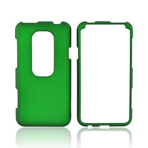 HTC EVO 3D Rubberized Hard Case - Green