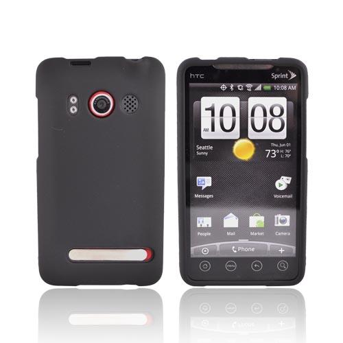 HTC Evo 4G Rubberized Hard Case - Black