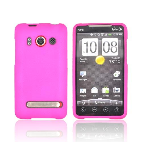 HTC Evo 4G Rubberized Hard Case - Rose Pink