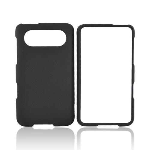 HTC HD7 / HTC HD7s Rubberized Hard Case - Black