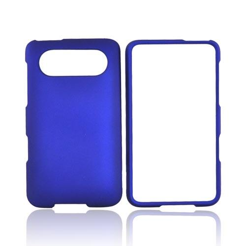 HTC HD7 / HTC HD7s Rubberized Hard Case - Blue