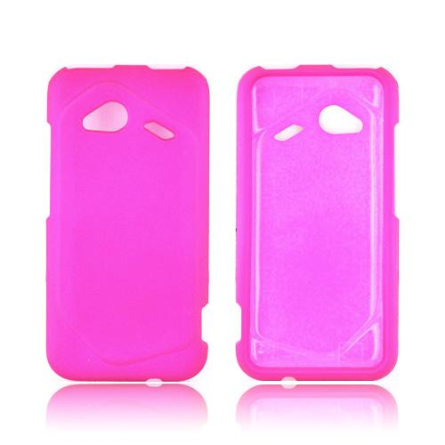 HTC Droid Incredible 4G LTE Rubberized Hard Case - Hot Pink