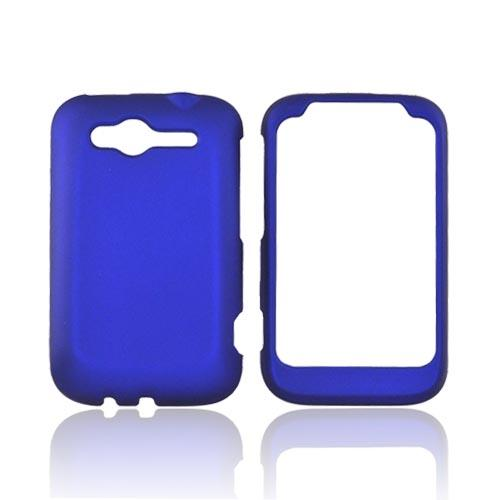 HTC Wildfire S (GSM) Rubberized Hard Case - Blue