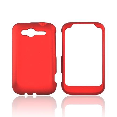 HTC Wildfire S (GSM) Rubberized Hard Case - Red