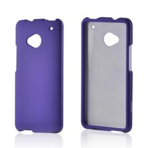 Purple Rubberized Hard Case for HTC One