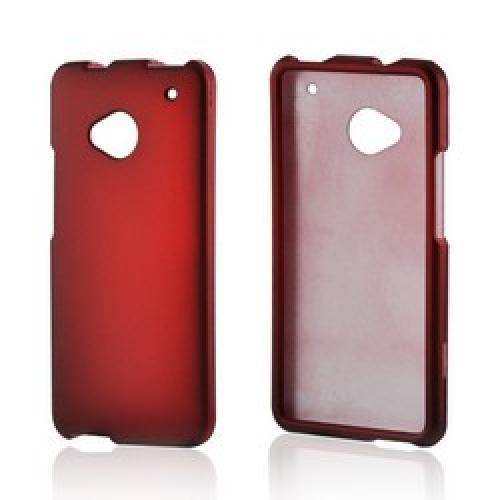 Red Rubberized Hard Case for HTC One