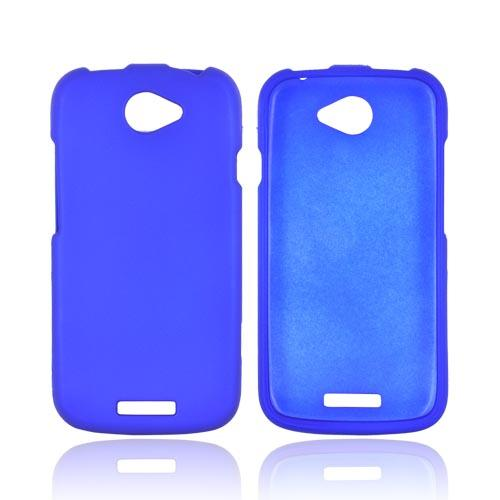 HTC One S Rubberized Hard Case - Blue