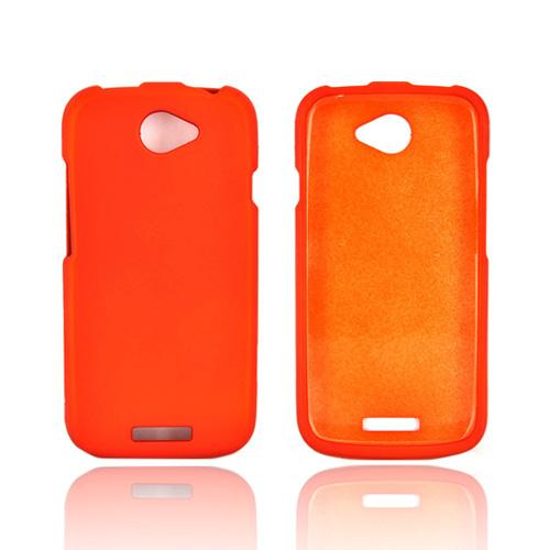 HTC One S Rubberized Hard Case - Orange