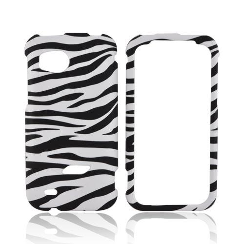 HTC Rezound Rubberized Hard Case - Black/ White Zebra