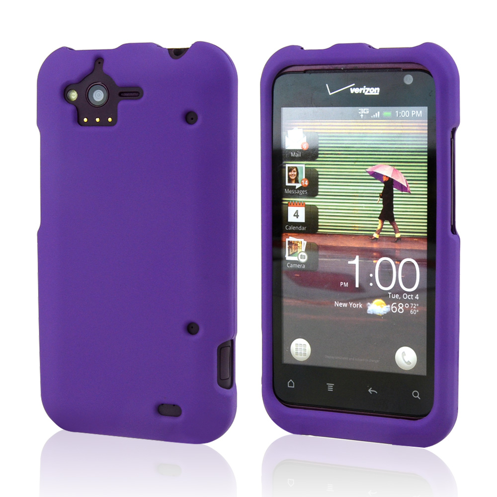 HTC Rhyme Rubberized Hard Case - Purple