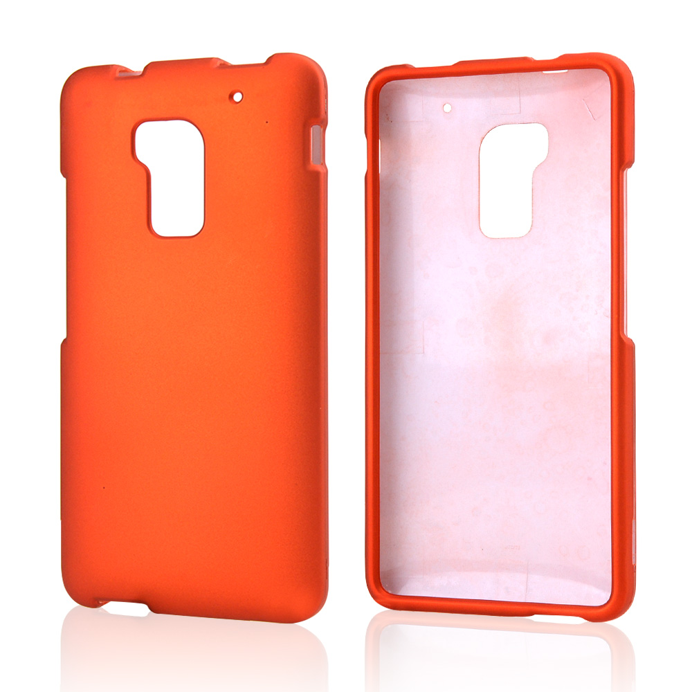 Orange Rubberized Hard Case for HTC One Max