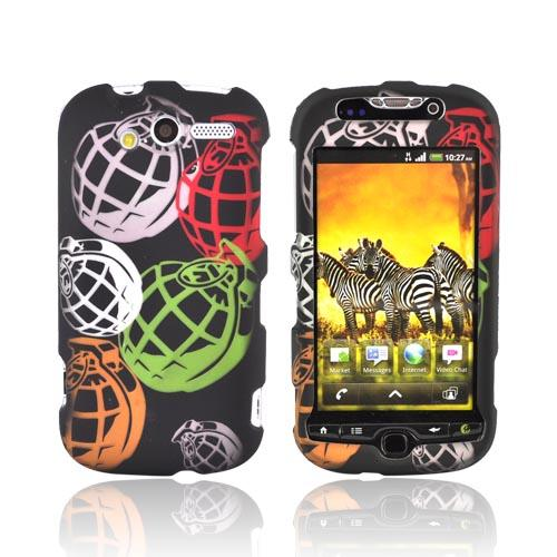 T-Mobile MyTouch 4G Rubberized Hard Case - Colorful Grenades on Black