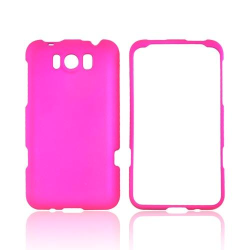 HTC Titan Rubberized Hard Case - Hot Pink