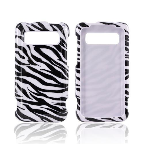 HTC Trophy Hard Case - Black Zebra on White