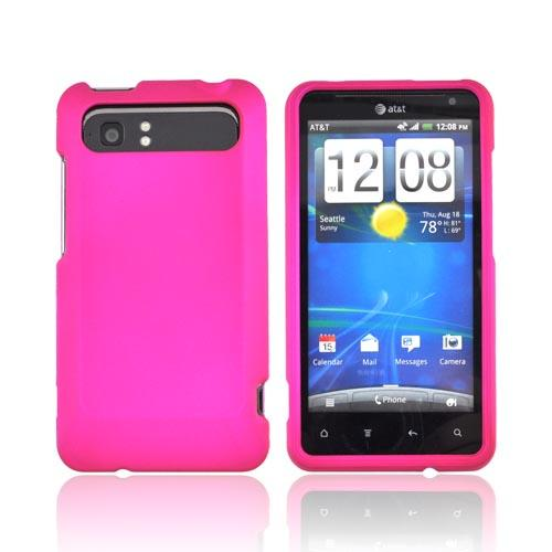 HTC Vivid Rubberized Hard Case - Hot Pink