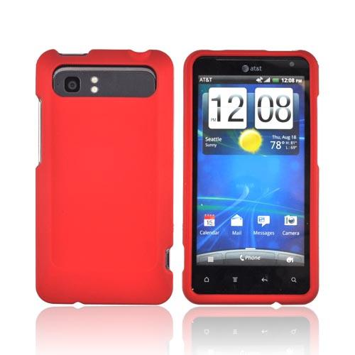 HTC Vivid Rubberized Hard Case - Red