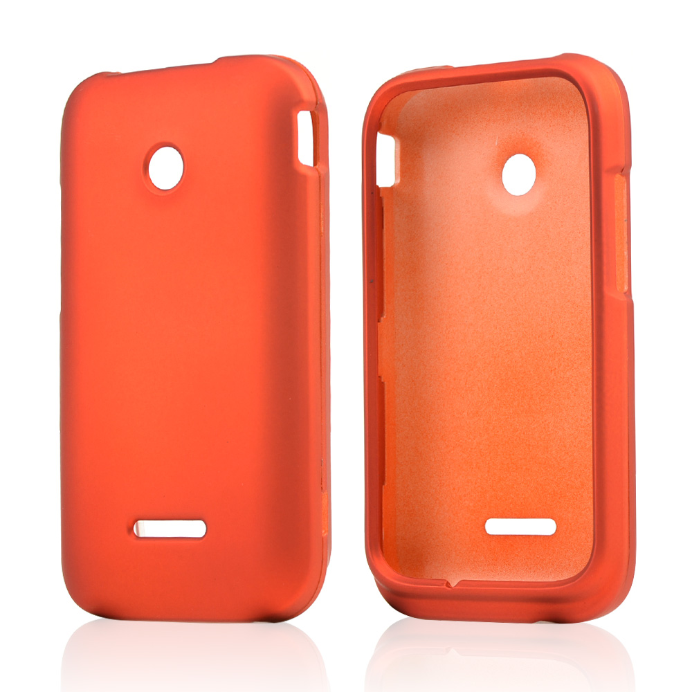 Orange rubberized hard case for t mobile prism 2 ebay for Orange mobel