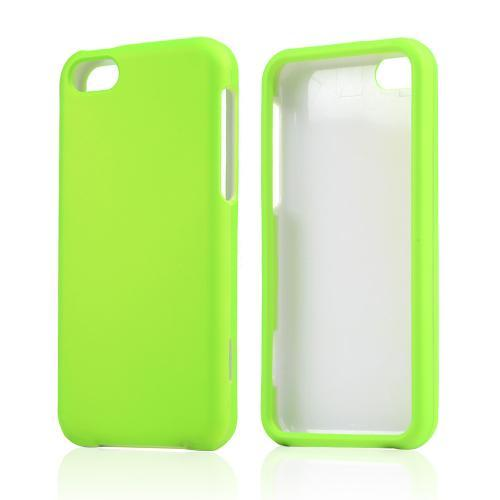 Neon Green Rubberized Hard Case for Apple iPhone 5C