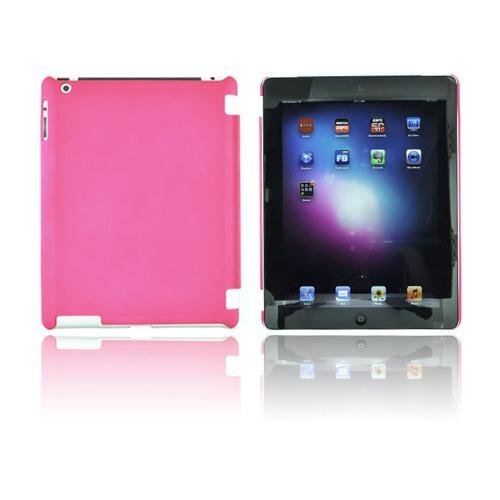 Apple New iPad (3rd Gen.) Rubberized Hard Case - Hot Pink (Works with Smart Cover!)