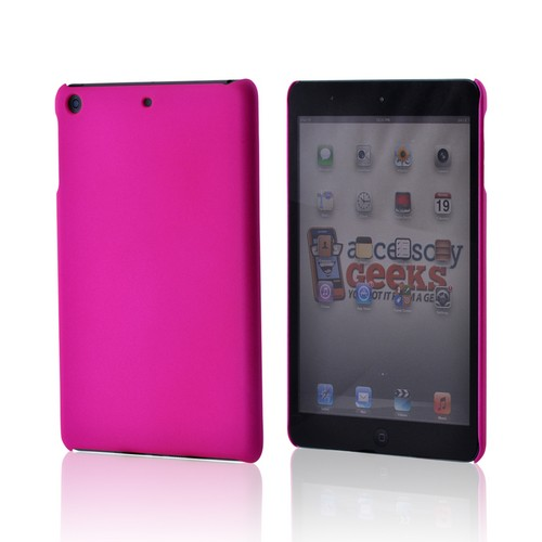 Hot Pink Rubberized Hard Case for Apple iPad Mini/ iPad Mini 2