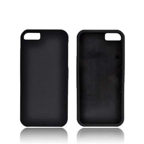 Apple iPhone 5/5S Rubberized Hard Case - Black