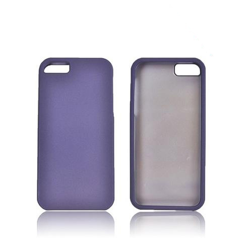 Apple iPhone 5/5S Rubberized Hard Case - Purple