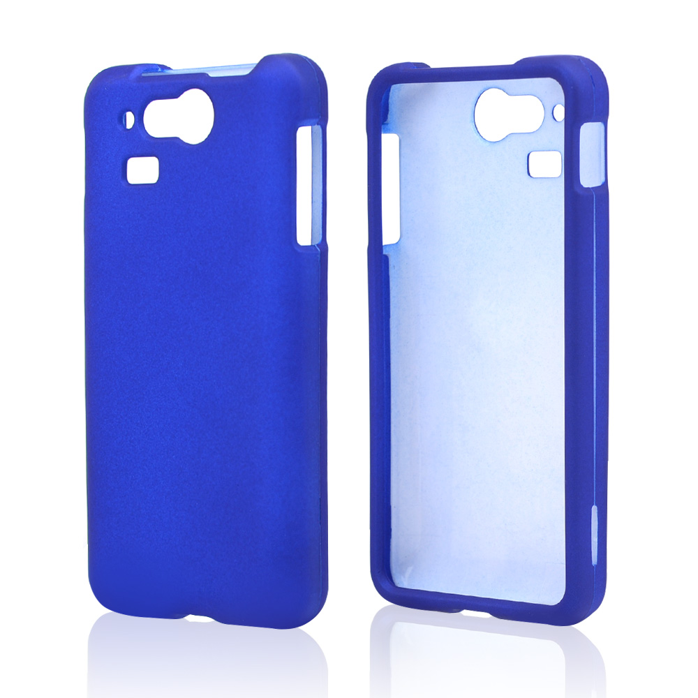 Blue Rubberized Hard Case for Kyocera Hydro Elite C6750