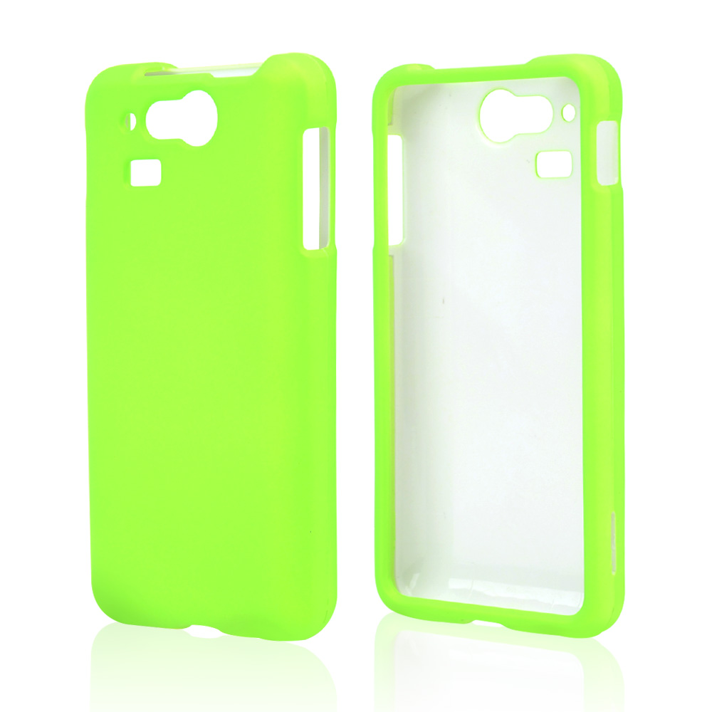 Neon Green Rubberized Hard Case for Kyocera Hydro Elite C6750
