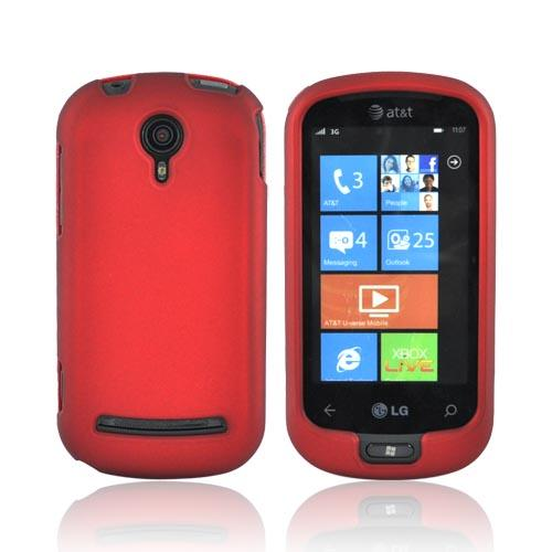 LG Quantum C900 Rubberized Hard Case - Red