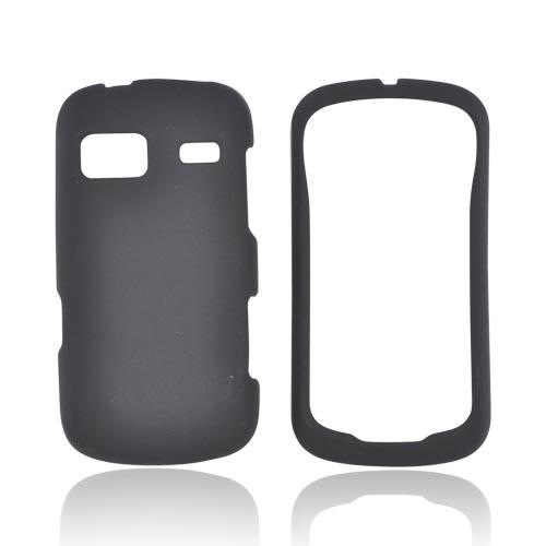 LG Rumor Reflex Rubberized Hard Case - Black
