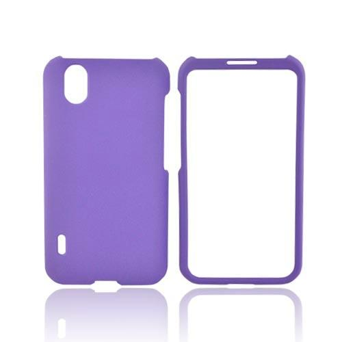 LG Marquee LS855 Rubberized Hard Case - Purple
