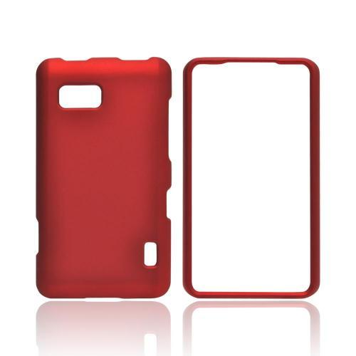 LG Mach Rubberized Hard Case - Red