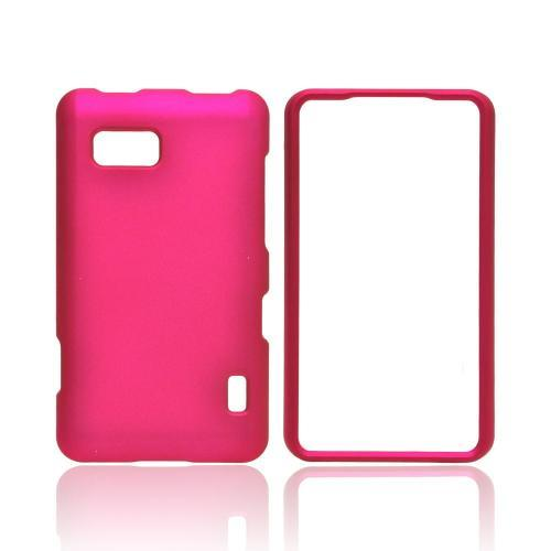 LG Mach Rubberized Hard Case - Rose Pink