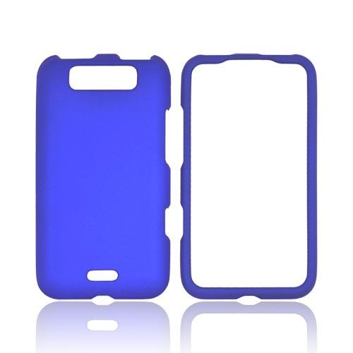 LG Viper 4G LTE/ LG Connect 4G Rubberized Hard Case - Blue