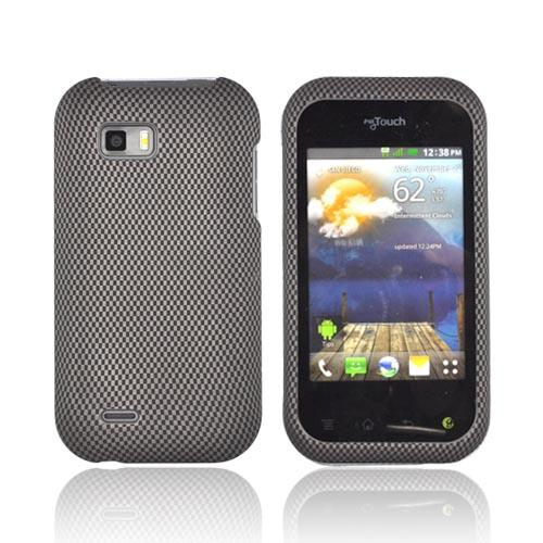 T-Mobile MyTouch Q Rubberized Hard Case - Carbon Fiber
